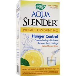 Nature's Way Aqua Slender - Weight Loss Drink Mix Natural Lemon 10 pckts