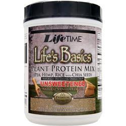 LIFETIME Life's Basics - Plant Protein Unsweetened Vanilla 16.24 oz