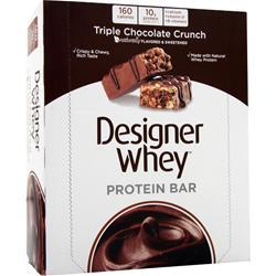 DESIGNER WHEY Protein Bar Triple Chocolate Crunch 12 bars