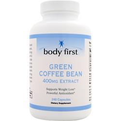 BODY FIRST Green Coffee Bean Extract (400mg) Best by 3/15 240 caps