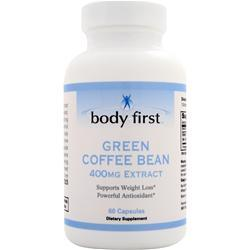BODY FIRST Green Coffee Bean Extract (400mg)  EXPIRES 2/16 60 caps