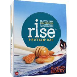 Rise Bar Rise Protein+ Bar Almond Honey 12 bars