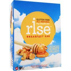 RISE BAR Rise Breakfast Bar Crunchy Honey Walnut 12 bars