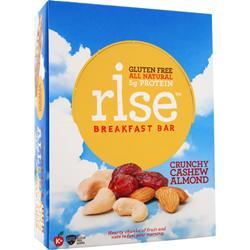 RISE BAR Rise Breakfast Bar Crunchy Cashew Almond 12 bars