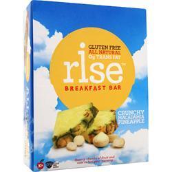 Rise Bar Rise Breakfast Bar CrunchyMacadamiaPineapple 12 bars