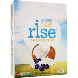 RISE BAR Rise Energy+ Bar Coconut Acai 12 bars