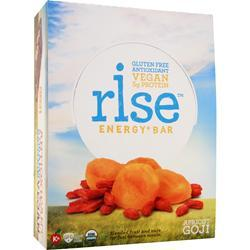 RISE BAR Rise Energy+ Bar Apricot Goji 12 bars