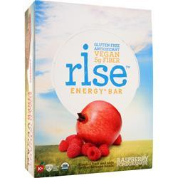 RISE BAR Rise Energy+ Bar Raspberry Pomegranate 12 bars