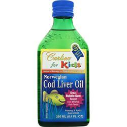 CARLSON for kids - Norwegian Cod Liver Oil Bubble Gum 8.4 fl.oz