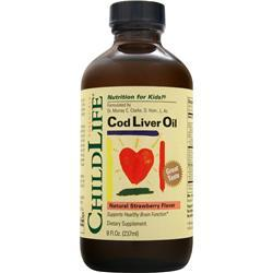 Childlife Cod Liver Oil Natural Strawberry 8 fl.oz