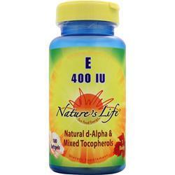 Nature's Life E (400IU) 100 sgels