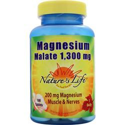 NATURE'S LIFE Magnesium Malate (1,300mg) 100 tabs
