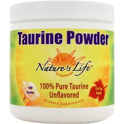 NATURE'S LIFE Taurine Powder Unflavored 400 grams