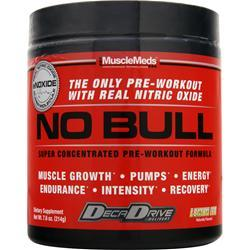MuscleMeds No Bull - Super Concentrated Pre Workout Formula Lemon Ice 7.6 oz
