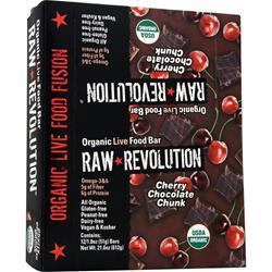 RAW INDULGENCE Raw Revolution - Organic Live Food Bar Cherry Chocolate Chunk 12 bars