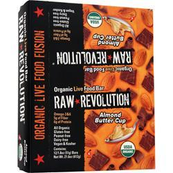 Raw Indulgence Raw Revolution - Organic Live Food Bar Almond Buttercup 12 bars