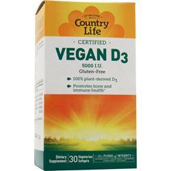COUNTRY LIFE Vegan D3 (5,000IU) 30 sgels