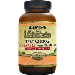 LIFETIME Life's Basics - Tart Cherry C-Chewable with Yumberry Natural Berry Flavor 60 wafrs