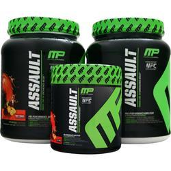 MUSCLE PHARM Assault Value Pack Blue Razz, Apple, Punch 3.64 lbs