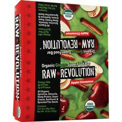 RAW INDULGENCE Raw Revolution - Organic Greens SuperFood Bar Apple Cinnamon 12 bars