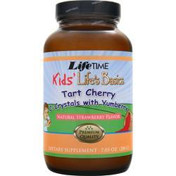 LIFETIME Kids' Life's Basics - Tart Cherry C-Crystals with Yumberry Natural Strawberry Flavor 7.05 oz