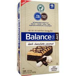 BALANCE BAR Balance Bar Dark Dark Chocolate Coconut 15 bars