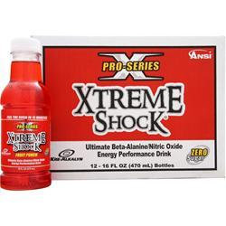 ANSI Pro Series Xtreme Shock Ready to Drink Fruit Punch (16 fl oz) 12 bttls