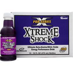 ANSI Pro Series Xtreme Shock Ready to Drink Grape (16 fl oz) 12 bttls