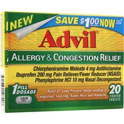 ADVIL Advil - Allergy & Congestion Relief 20 tabs