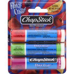 CHAPSTICK Flava Craze - Skin Protectant 3 pck
