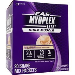 EAS Myoplex Lite Shake Vanilla Cream 20 pckt