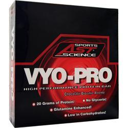AST Vyo-Pro Bar Chocolate Brownie Xtreme BEST BY 12/15 12 bars