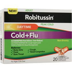 ROBITUSSIN Peak Cold - Daytime Cold + Flu 20 lcaps
