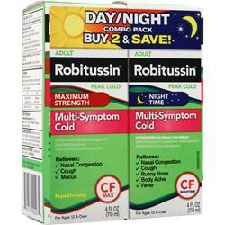 ROBITUSSIN Peak Cold - Day/Night Multi-Symptom Cold Combo Pack Best by 3/15 8 fl.oz