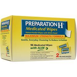 Preparation H Medicated Wipes - Maximum Strength Formula 96 wipes