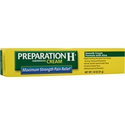 Preparation H Hemorrhoidal Cream - Maximum Strength Pain Relief 1.8 oz