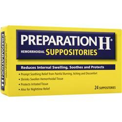 Preparation H Hemorrhoidal Suppositories 24 count