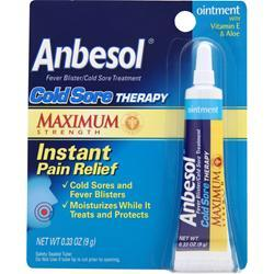 Anbesol Cold Sore Therapy - Maximum Strength .33 oz