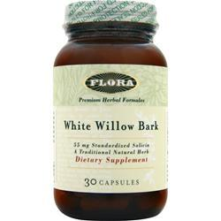 FLORA White Willow Bark 30 caps
