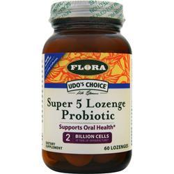 FLORA Udo's Choice Super 5 Lozenge Probiotic 60 lzngs