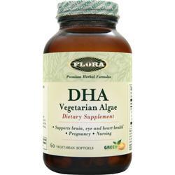FLORA DHA - Vegetarian Algae 60 sgels