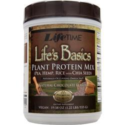 LIFETIME Life's Basics - Plant Protein Natural Chocolate 1.22 lbs