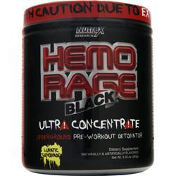NUTREX RESEARCH Hemo Rage Black Ultra Concentrate Lunatic Lemonade 9.35 oz