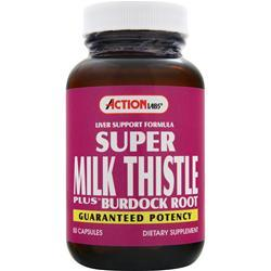 ACTION LABS Super Milk Thistle Plus Burdock Root 50 caps