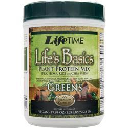 LIFETIME Life's Basics - Plant Protein Mix with Greens 19.84 oz