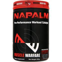MUSCLE WARFARE Napalm - Pre Performance Workout Catalyst Raspberry Nectar 252 grams