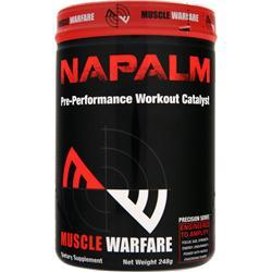 MUSCLE WARFARE Napalm - Pre Performance Workout Catalyst Fruit Punch 248 grams