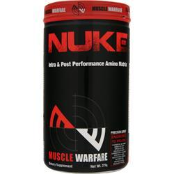 MUSCLE WARFARE Nuke - Intra & Post Performance Amino Matrix Fruit Punch Exp 6/15 379 grams