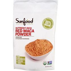 Sunfood Nutrient-Rich Red Maca Powder 8 oz