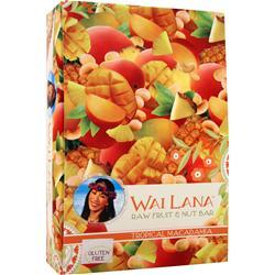 WAI LANA Raw Fruit & Nut Bar Tropical Macadamia 12 bars